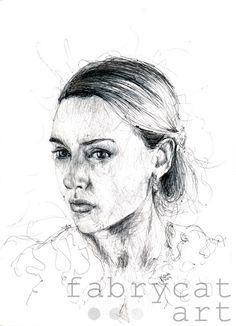 Kate Ballpoint pen drawing