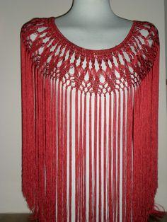Crochet Collar, Crochet Blouse, Knit Or Crochet, Crochet Scarves, Crochet Shawl, Crochet Clothes, Crochet Baby, Macrame Dress, Lace Making