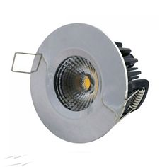 Ip65 Chrome Fixed Dimmable Led Downlight 10w 4000k 580lm Fire