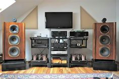 High end audio audiophile Tannoy speakers music listening room design