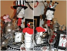 Skull Centerpieces for Weddings | is for Party: {Real Parties} A Very MAD Hatter Tea Party