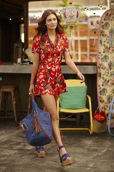 Combishort Polo Ralph Lauren à motif tropical   l amusant combishort de  l été c3b06eed5a2