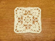 Pretty crochet square - diagram only pattern.