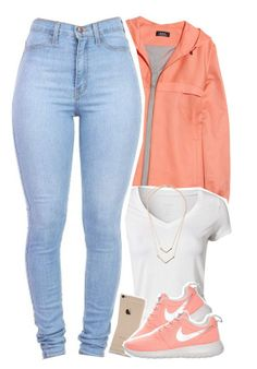 """""""simple but cute"""" by daisym0nste ❤ liked on Polyvore featuring A.P.C., Calvin Klein, NIKE, women's clothing, women's fashion, women, female, woman, misses and juniors"""