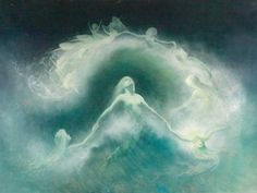 View Nixentanz am Meer by Karl Wilhelm Diefenbach on artnet. Browse upcoming and past auction lots by Karl Wilhelm Diefenbach. Mermaids And Mermen, Pre Raphaelite, Victorian Art, Am Meer, Magical Creatures, Illustrations, Faeries, Les Oeuvres, Mystic