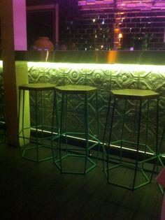 Loving these  hexagonal stools