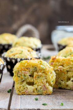 Superleckere Muffins mit Schinken & Käse zum Frühstück. #muffins #breakfast   malteskitchen.de