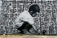 Street art  02 El MAC + RETNA /Marquis Lewis