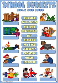 School subjects interactive and downloadable worksheet. You can do the exercises online or download the worksheet as pdf.