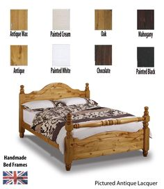 Traditional rail end design pine bed frame.Extra sturdy and solid pine super kingsize bed frame hand made and finished in a colour of your choice.High quality materials and expert craftsman create this superior collection.FREE Express Delivery.