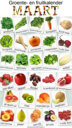 Groente en Fruit Kalander voor Maart