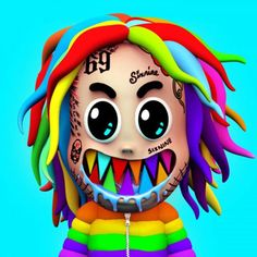 """Here's the lyrics to - GOOBA. released """"GOOBA"""" on May which is the rapper's birthday. The """"GOOBA"""" music video gained Rapper Art, Anime Rapper, Pop Art Posters, Cartoon Posters, Piano Cover, American Rappers, Music Download, Cry Baby, News Songs"""