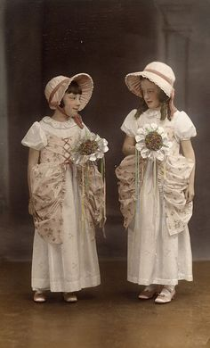 All sizes | Tinted 1930s bridesmaids | Flickr wishing someone had painted the bouquets differently