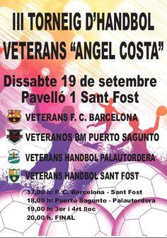 #Handbol Cartell del proper torneig d'Handbol Veterans que es farà el proper 19 de setembre a Sant Fost