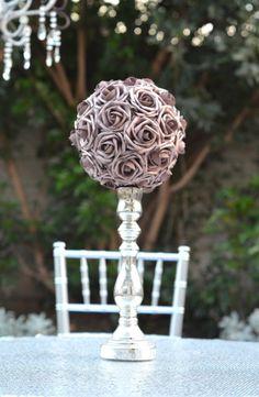 ROSE GOLD Flower Ball Wedding Centerpiece Rose by KimeeKouture