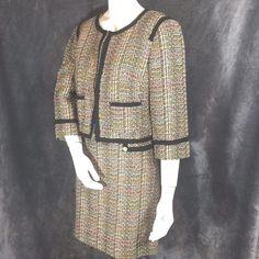 Tweed Suit Jacket Skirt Trina Turk #TrinaTurk #SkirtSuit #Career