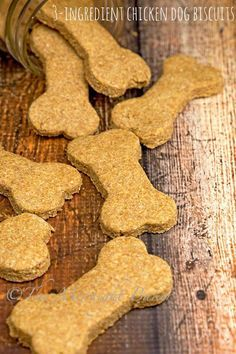 These chicken dog biscuits are so easy to make, you'll never buy store-bought again!