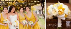 The Bethany ~ white peonies & garden roses with yellow garden roses & dusty miller