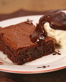My go-to brownie recipe - I must have made these over a hundred times to bring into my students- - they are wonderful. Very rich and fudgy with the crust that you can normally only get with box brownies.