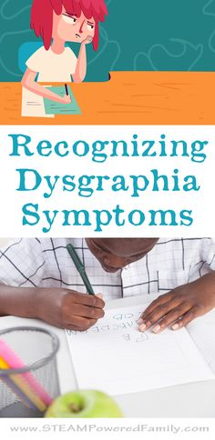 Dysgraphia symptoms involve struggles with writing, but are much more than just messy writing. Learn the signs and symptoms to help these children excel.  via @steampoweredfam
