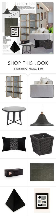 """Geometric"" by undici ❤ liked on Polyvore featuring interior, interiors, interior design, home, home decor, interior decorating, Serena & Lily, NuCasa, Amara and Improvements"
