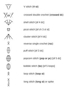 Crochet symbols i always tell my students that learning to read a crochet stitch symbols crochet stitches ccuart Images