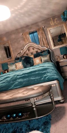 Probably The Most Beautiful Girls Bedroom Dream Rooms – Modern Home Cute Bedroom Ideas, Cute Room Decor, Room Ideas Bedroom, Bedroom Themes, Bedroom Inspo, Bedroom Colors, Bedroom Inspiration, Home Themes, Bedroom Designs