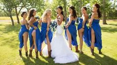 Bridesmaids bare all in new wedding trend. #smh #lifeandstyle #trend #wedding #bridsmaids