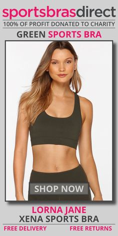 This Maximum Support green sports bra will have you covered from burpees to long distance running! Designed with a feature open looped back panel for added breathability. This bra will get you through those sweaty workouts with ease. Shop Now! #bra #sportsbra #green #greenbra #greensportsbra