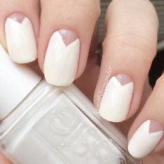 Brush on this minimalist nail design with our creamy white 'blanc' shade.