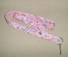 MEOW Catitude  handmade fabric lanyard by doodlebugquilts on Etsy, $8.00