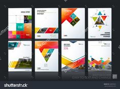 Business Vector Set. Brochure Template Layout, Cover Design Annual Report, Magazine, Flyer In A4 With Colourful Geometric Shapes, Squares, Triangles, Arrows For It, Business, Building. Abstract - 528699325 : Shutterstock