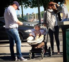 Princess Madeleine of Sweden with her husband Chris O'Neill and his daughter Princess Leonor were seen during a walk on June 11, 2015 in Stockholm, Sweden.