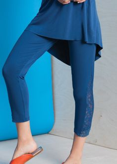 Sexy side arabesque window design on this comfy cropped legging which comes in many different favorite colors! Window Design, Arabesque, European Fashion, Stylish Dresses, Favorite Color, Curves, Capri Pants, Comfy, Couture
