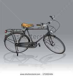 Vector drawing of a vintage Bike/Vintage Bike/ Easy to edit layers and groups, gradients used. - stock vector