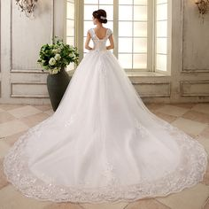 Wedding dress 2013 train new arrival bride fish tail wedding dress long trailing luxury rhinestone double shoulder straps-inWedding Dresses ...
