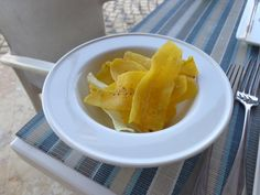 Banana chips @ Restaurant Marea by Rausch