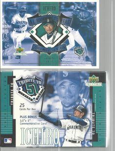 MLB Trading Cards Ichiro Tribute To 51 Upper Deck 2001 Box Of 25 11-19 110-125   #UpperDeck #SeattleMariners