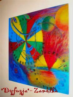 """""""Dyfuzja"""", akryl na płótnie (80/80)  /  """"Diffusion"""", acrylic on canvas (80/80)  /  """"Diffusion"""", Acryl auf Leinwand (80/80)  /  150€  /   http://pl.dawanda.com/shop/zamotka http://de.dawanda.com/shop/zamotka http://en.dawanda.com/shop/zamotka"""
