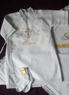 Именные крестильные наборы для малышей