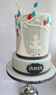 Swinging on the Tree of Life Christening cake