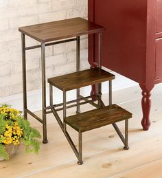 Foldable 2'H Wooden Step Stool  $99.95