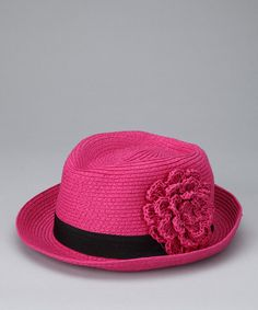 Take a look at this Hot Pink Flower Fedora by David & Young on #zulily today!