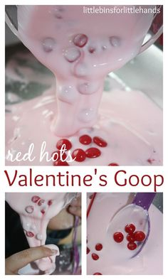 Valentines Goop Science Sensory Play Oobleck for Kids:
