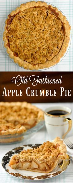 recipe: crustless apple pie with crumb topping [30]