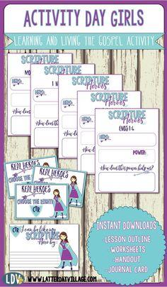Activity Day Girls: Scripture Heroes - LatterdayVillage
