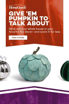 This fall, head to HomeGoods for endless home decor ideas and always-incredible prices. From wreaths and centerpieces to pumpkins (so many pumpkins) and harvest finds, decorate every corner of the home with all things autumn. Arts And Crafts Kits, Craft Kits, White Pumpkins, Fall Pumpkins, Fall Crafts, Diy Crafts, Thanksgiving Crafts, Rose Gold Theme, Holiday Decor