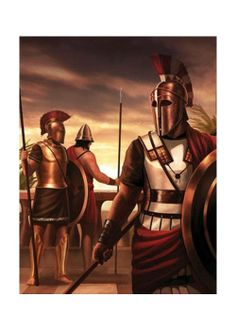 Hoplites from three periods:to the far left is an Archaic period hoplite, with… Greek History, Roman History, Sparta Greece, Greco Persian Wars, Corinthian Helmet, Hellenistic Period, Greek Warrior, Mycenae, Trojan War