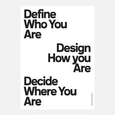 Poster Define Who You Are, 24€, jetzt auf Fab.