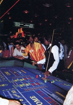 Tupac on the floor at MGM Grand Sept 7, 1996  www.all-chips.com has chips for sale from here